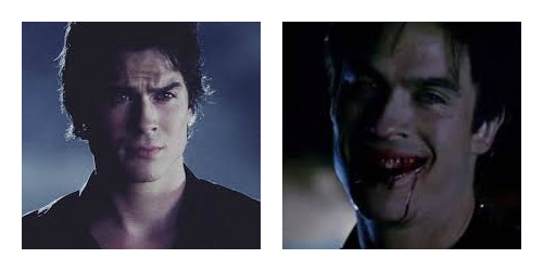 Damon vampire collage